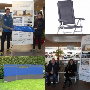 Entrega paraviento y sillas, premios del Sorteo de Accesorios de Caravaning - Feria Oportunidades Caravaning - AutoSuministres
